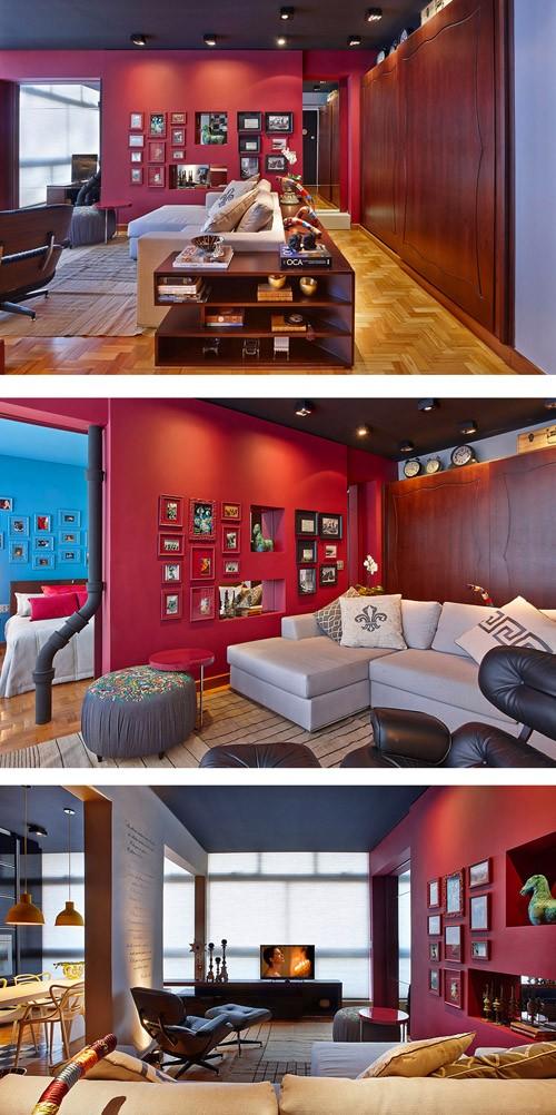 оригинальный дизайн интерьера гостиной