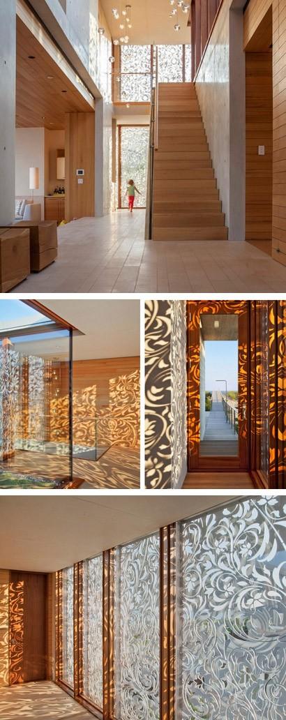 интерьеры дома с алюминиевым экраном