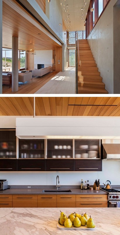 интерьер современного пляжного дома