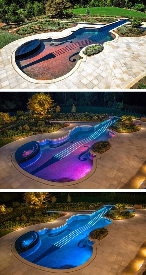 бассейн в форме скрипки Страдивари