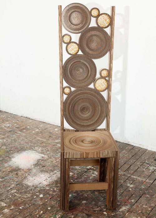 дизайнерский картонный стул