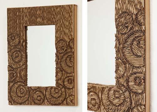 картонная рама для зеркала