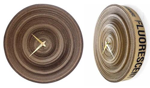 картонные настенные часы
