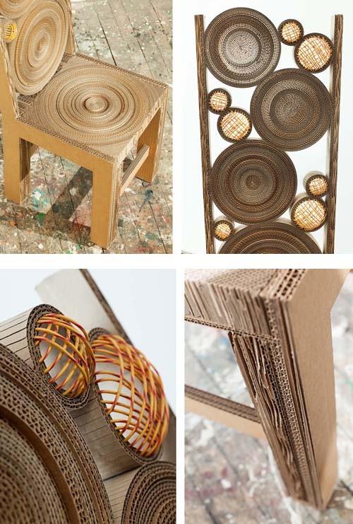 детали картонного стула