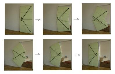 принцип открывания двери по системе прутьев