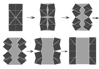 оригинальная двухстворчатая дверь из 8 квадратных панелей