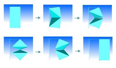 механизм открывания двери по принципу треугольников