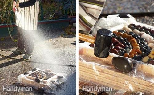 смачивание плитки при сухом методе изготовления