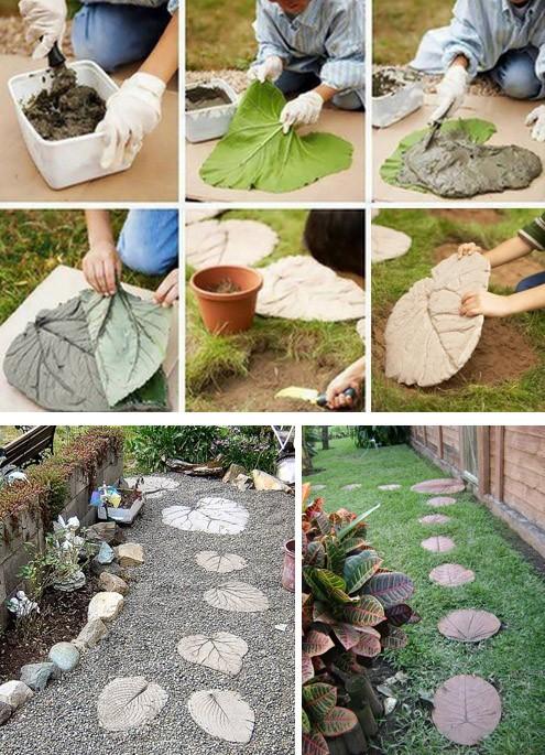 изготовление фактурных плиток для пошаговых тропинок