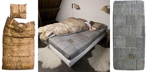 постельное белье с имитацией постели бродяги