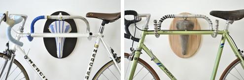 держатели для велосипедов в стиле охотничьих трофеев