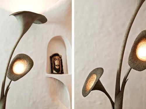 текстура и детали напольного светильника
