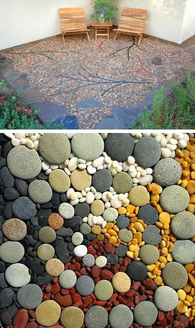 каменные дворовые площадки