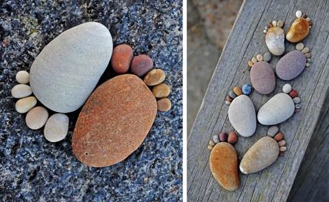 оригинальное использование камней для ландшафтного дизайна