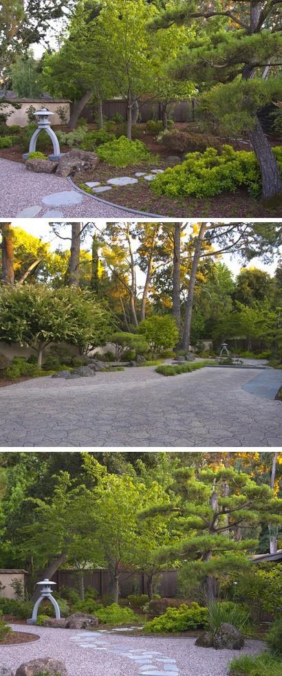 сплав традиционных восточных и современных элементов в дизайне сада