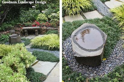 ванна для птиц в садовом дизайне