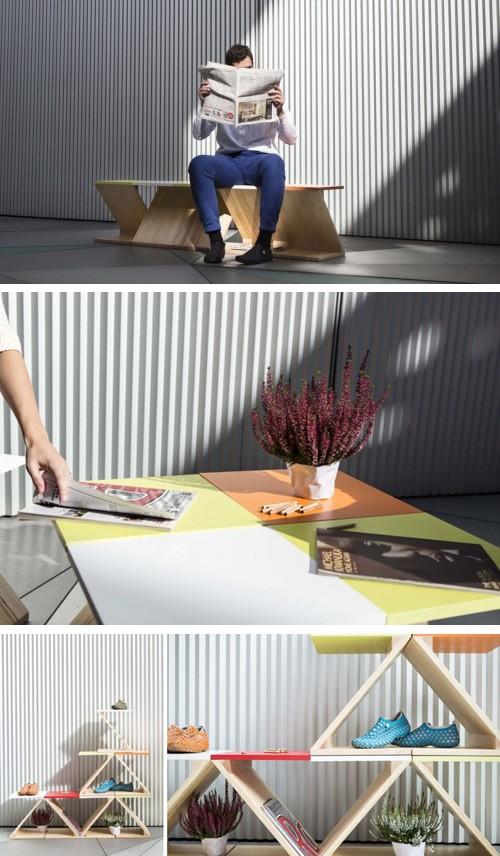мебельные конструкции из нескольких модулей