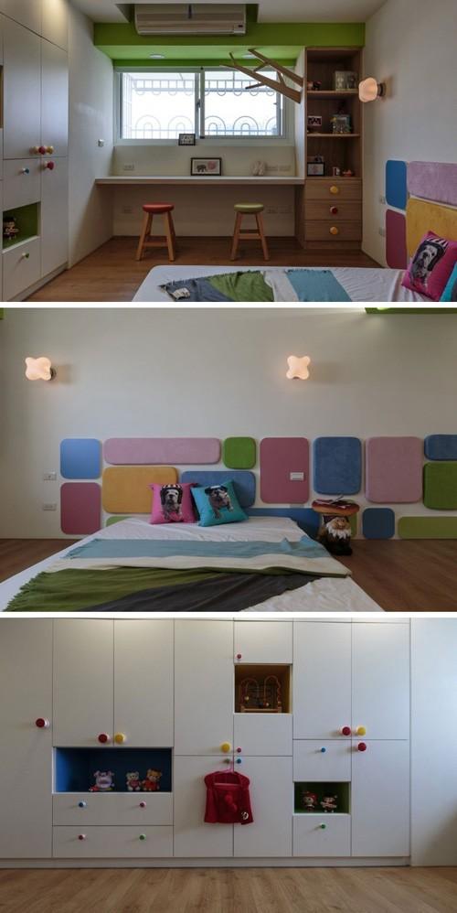 дизайн детской комнаты с яркими деталями