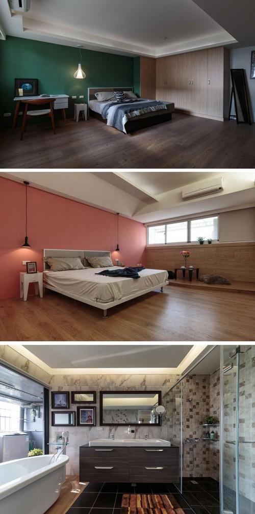 дизайн спален и ванной