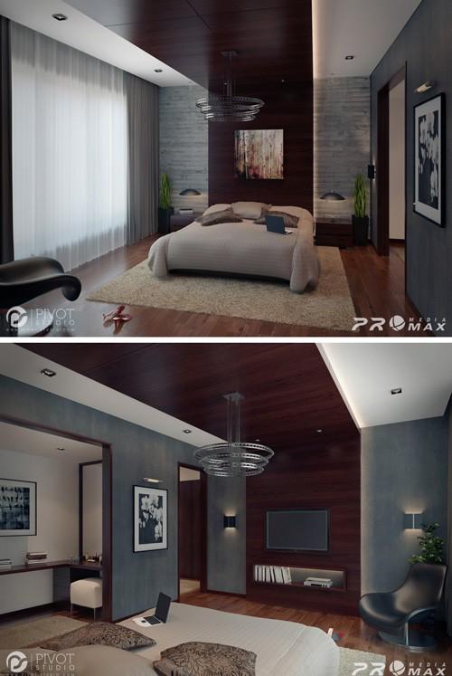 дизайн ниши в спальне