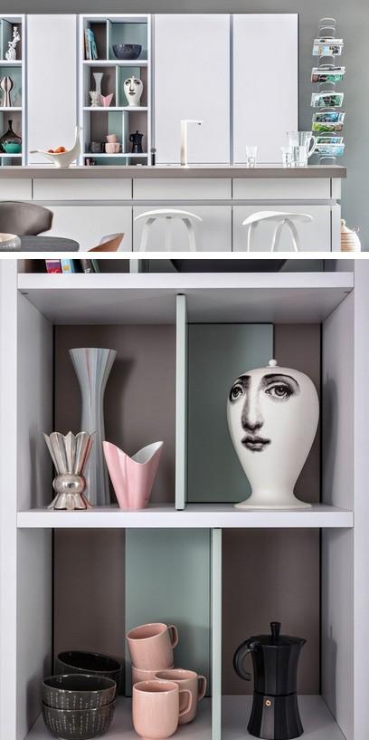 разделители открытых полок в кухонных шкафах
