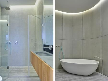 ванная с изогнутой стеной