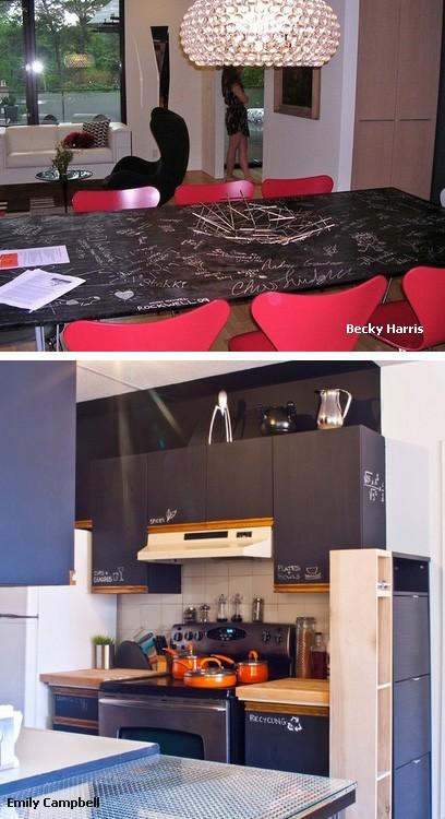 грифельные поверхности на мебели