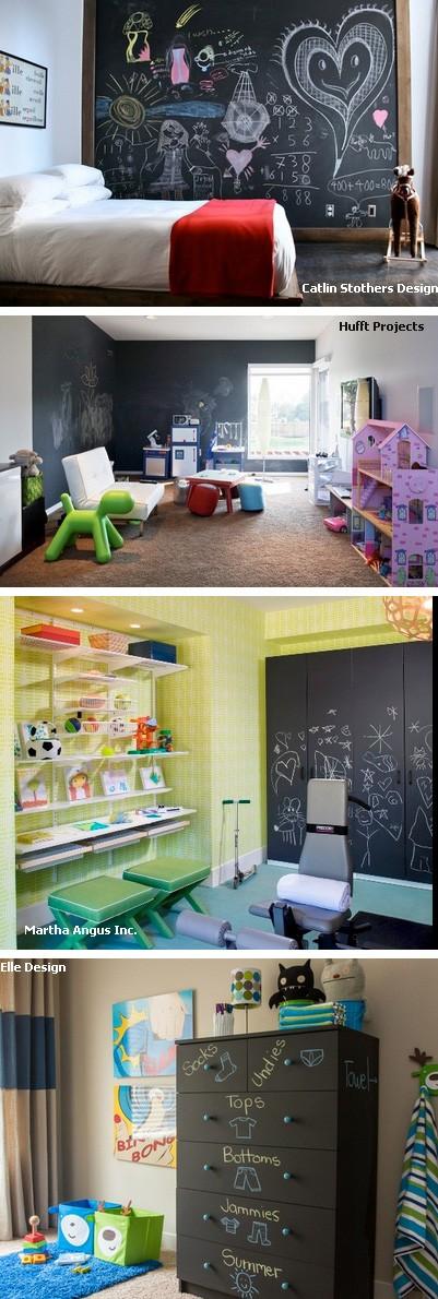 меловые стены и доски в детской