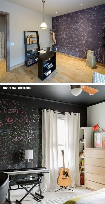 грифельные стены в комнатах подростков