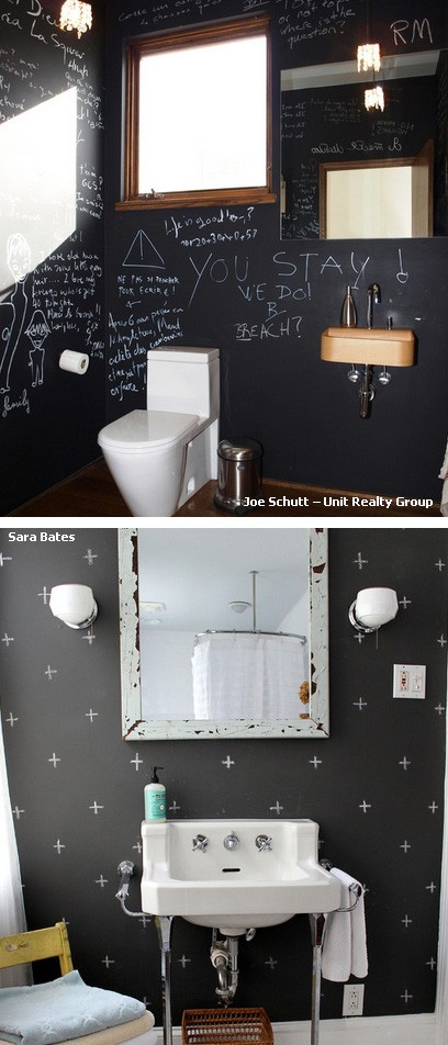 меловые доски в ванной
