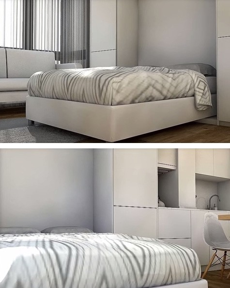 откидная двухспальная кровать