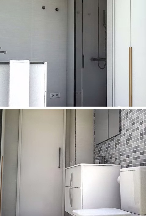 интерьер ванной со встроенным шкафом
