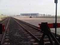 грузовой терминал с упрочненным бетонным полом