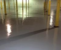 готовый бетонный пол с упрочненной поверхностью