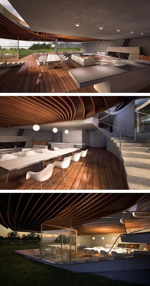 дизайн первого этажа дома
