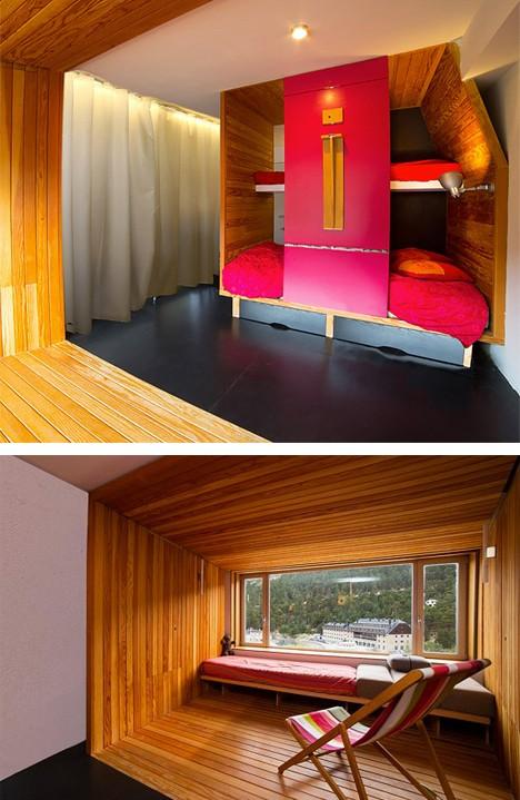 зонирование однокомнатной квартиры деревянными боксами