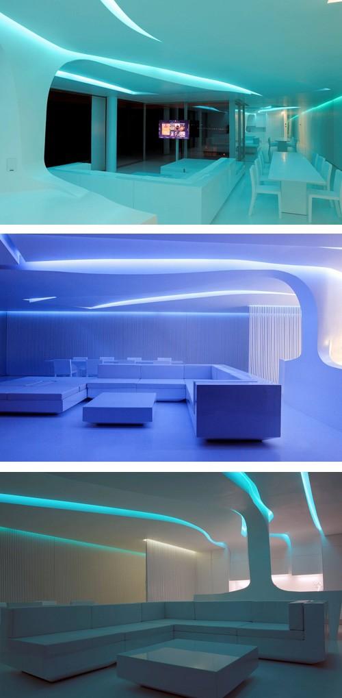 регулируемая светодиодная подсветка потолка