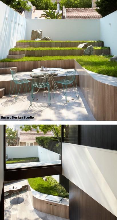 подпорная стенка со встроенной летней кухней
