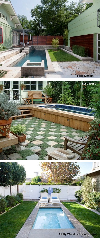 варианты бассейнов для маленьких дворов