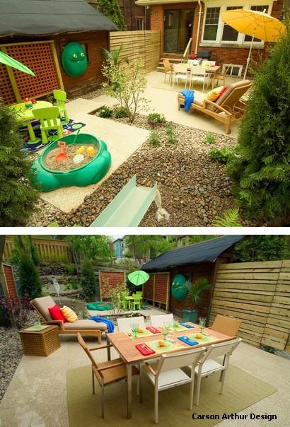 детская игровая площадка в маленьком дворе