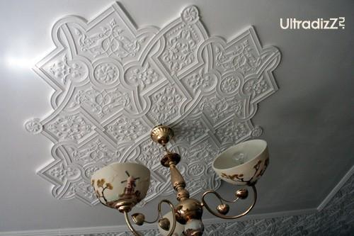 потолочный плафон после покраски