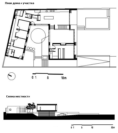 план дома и схема участка