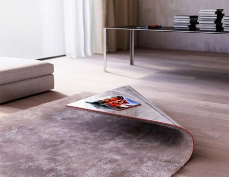 ковер с интегрированным кофейным столиком