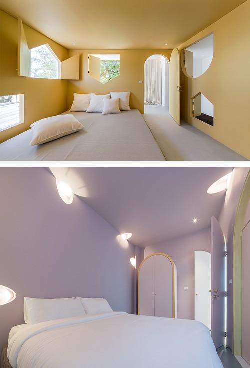 дизайн спален в стиле мышиных норок