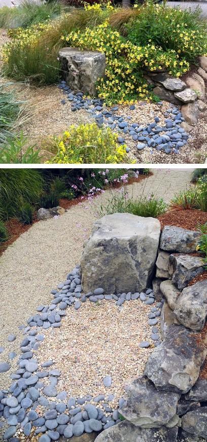 влажные каменные пруды
