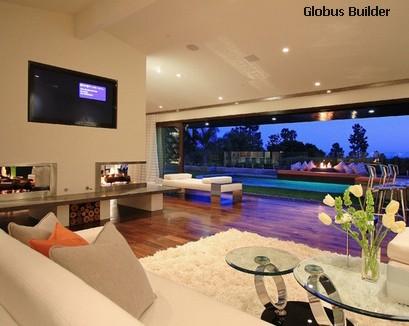 гостиная с бежевой мебелью и стенами