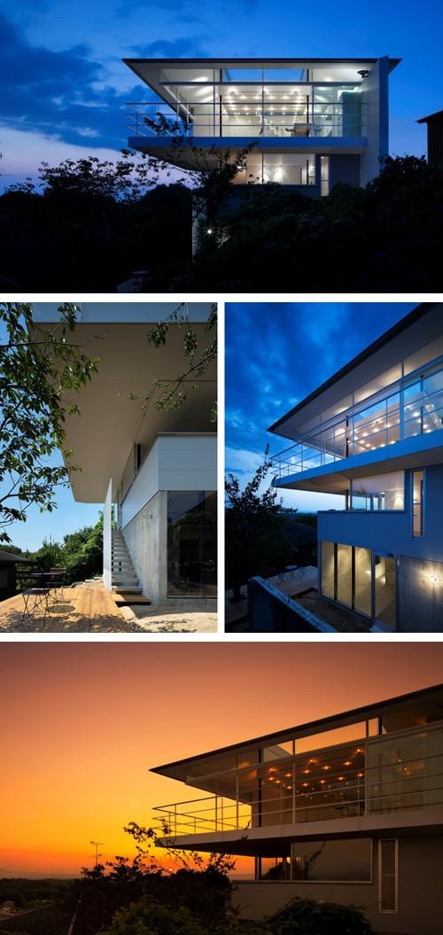 двухэтажный частный дом в стиле минимализм