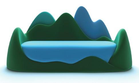 диван в форме горного озера