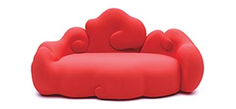 диван в форме облаков