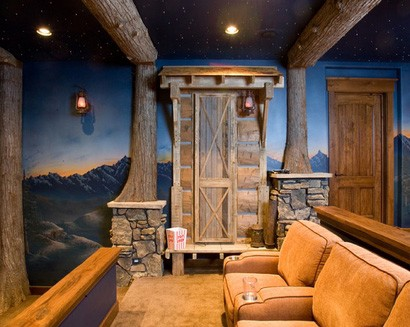 дизайн домашнего кинотеатра в ретро стиле